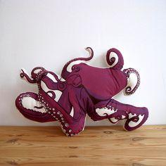 Octopus Pillow by Broderpress