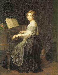 Portrait of Swedish opera singer Jenny Lind (circa 1845) by artist J. L. Asher.