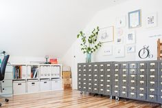 Attic Craft Room reveal | www.1dogwoof.com