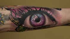 Large realistic eye tattoo by Jerry L. Pipkins #InkedMagazine #eye #realistic #tattoo #tattoos #inked