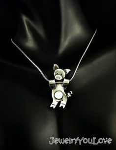 Sterling Silver Pig Necklace  Laundry by JYLbyPeekaliu on Etsy, $69.95