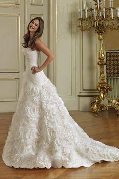 wedding dressses, idea, ball gowns, strapless wedding dresses, dream, weddings, oleg cassini, bride, bridal accessories