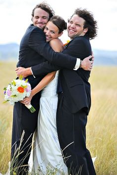 Bride, Groom and Best Man ... this is pretty funny :)