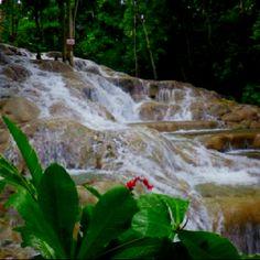 Dunns river falls . Jamaica 2012