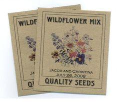 Vintage-style wedding favour seed envelope
