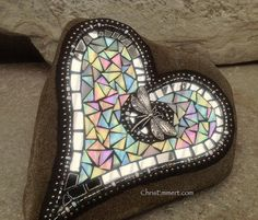 Mosaic Garden Stones | Flickr - Photo Sharing! mosaic heart, mosaic garden, garden stones, garden art