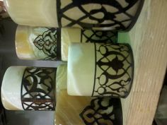 alabaster candle holders