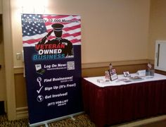 Veteran Owned Business event banner shown at a recent Veteran Owned Business event in Central Florida.