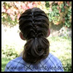 Twist Back Waterfall FAKE Braid