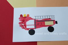 A firetruck.  Love it.  What else can you craft out of your foot?!