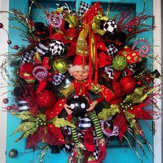 Elf Christmas Wreath I made!
