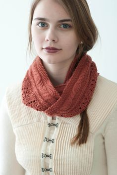 scarves, etc. 2014: warble by bonnie sennott / quince & co chickadee