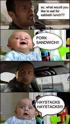 Hahaha!! Seventh-Day Adventists & Haystacks Meme