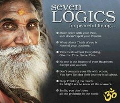 7 logics for peaceful living