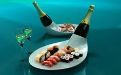 Exotic wine bottle dish by Young Sang Eun