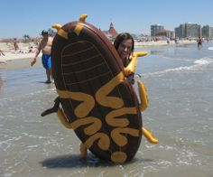 This summer, hang out on top of a giant cockroach while at the beach