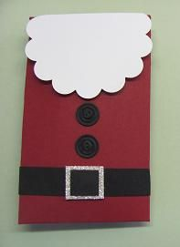 Santa Envelope Punch Board candy favors
