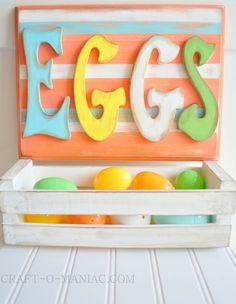 "Easter Craft- Easter ""Eggs"" Plaque #Eastercrafts #Easter"