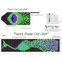Seed+Bead+Square+Stitch | Peacock Sweep Printable Bead Graph for Beading