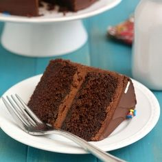 Old-Fashioned Chocolate Layer Cake: layers of moist, tender chocolate cake topped with a rich, super chocolatey frosting