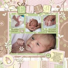 Creative Memories Project Center - Digital: Digital Scrapbooking Project Ideas http://projectcenter.creativememories.com/digital/digital-scrapbooking-project-ideas/page/50/ scrapbook layouts, jill klasen, klasen spring, spring catalog, baby girl scrapbook ideas, baby girls, babi girl, delight babi, scrapbook pages