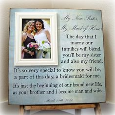 Wedding Gift For Future Brother In Law : ... idea for a future sister in law more quotes for sister in law someday