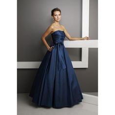 Navy Blue Wedding Dresses navy blue wedding dress | Navy Dark Blue Wedding Dresses Strapless ...