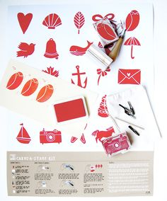 Love this new Carve-A-Stamp Kit from Yellow Owl Workshop