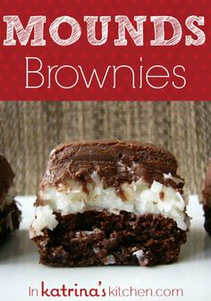 homemade frosting, brownie recipes, sweet, coconut, food, almond joy, condensed milk, mound browni, dessert