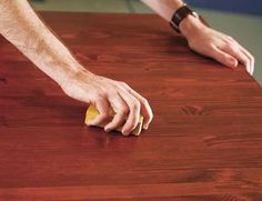 How to stain furniture.