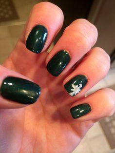 Winter shellac nail design #shellac