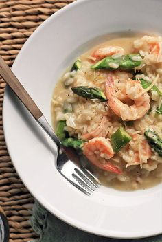 Shrimp and Asparagus Risotto | Girl Cooks World