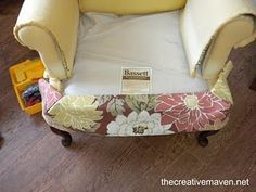 Great Wingback Chair Reupholstery Tut