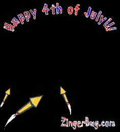 4th of July Firework Glitter | Glitter Graphic Comment: Happy 4th of July Animated Rocket Fireworks