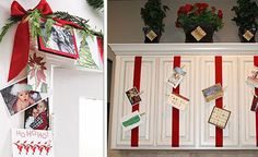 15 Pretty Displays For Christmas Pictures & Cards