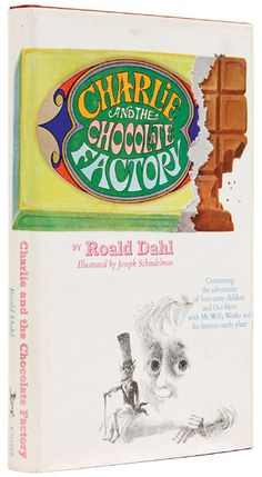 "When my mother read ""Charlie and the Chocolate Factory"" to me when I was a child (back in 1972!), this was the book cover.  Quentin Blake's illustrations are now featured in most of Roald Dahl's books and book covers. Their collaboration began in 1977 with ""The Enormous Crocodile."""