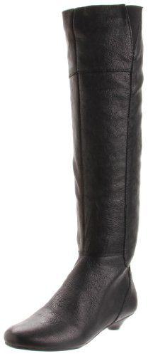 $54.99-$179.00 Nine West Women's Perla Boot,Black Leather,7.5 M US - This knee-high beauty from Nine West is so flattering and versatile you'll be wearing it all season long. Top skinny pants and jeans or tuck it under flowy skirts and frocks, the Perla boot offers a bit of height and walking ease with its low tapered heel. Plus, the instep zipper makes dressing a cinch. http://www.amazon.com/dp/B004UP1TQA/?tag=icypnt-20