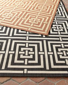 """""""Square Graphic"""" Rug by Safavieh at Horchow. Brown Outdoor Rug."""