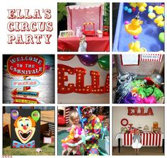 Circus Birthday Party #circus #party