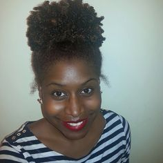 We can never get enough of an #afropuff, they are easier to @ebonyjamison. #weluvnaturals #afro #afrohair #naturalhair