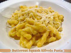 Healthy Butternut Squash Alfredo Pasta mac cheese, healthy butternut squash, alfredo pasta, schue, food, squash mac, squash alfredo, pastas, healthi butternut