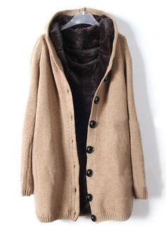 Khaki Hooded Long Sleeve