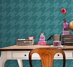 Houndstooth Large: Reusable Wall Stencil for DIY decor - Decorative Stencils, Hounds Tooth, wall art. $25.00, via Etsy.
