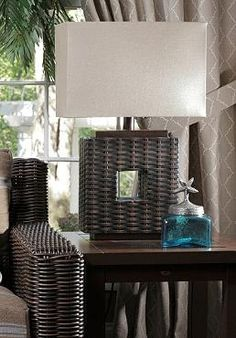 Keep the conversation going late into the evening by the light of the Rustic Woven Outdoor Lamp; a wicker masterpiece that will compliment any outdoor seating collection.