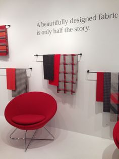 @Leen Amromin Fabrics told us half the story at NeoCon 2014 with this teaser collection of rich hues and classic tailored patterns, set to launch officially this fall.