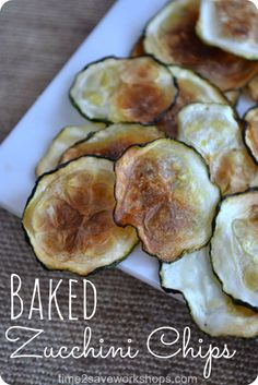 baked zucchini chips - Time 2 Save Workshops
