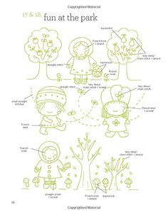 embroidery pattern - fun at the park