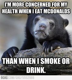 Somehow I think that junk food is worse than cigarettes. Well probably because junk food makes people fat. And that leads to more health issues