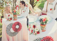 sweetheart table, animal crackers, centerpiec, wedding ideas, carnival wedding, carnivals, weddings, paper flowers, marri