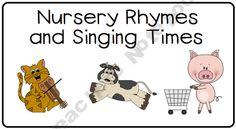 Tot Camp - Nursery Rhymes Freebie